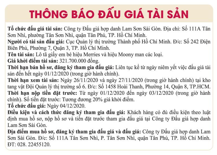 Ngày 4/12/2020, đấu giá tang vật tịch thu tại TPHCM ảnh 1