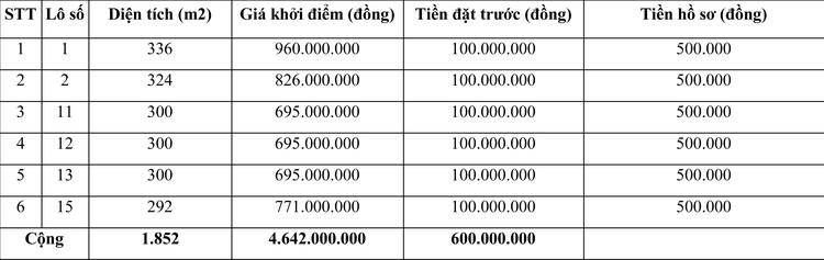 Ngày 12/12/2020, đấu giá quyền sử dụng đất tại huyện Vĩnh Linh, tỉnh Quảng Trị ảnh 1
