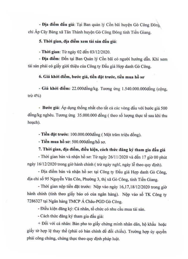 Ngày 19/12/2020, đấu 70 tấn nghêu thịt tại tỉnh Tiền Giang ảnh 2