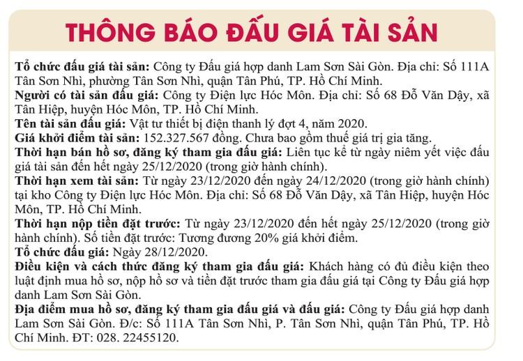 Ngày 28/12/2020, đấu giá quyền sử dụng đất tại huyện Nhơn Trạch, tỉnh Đồng Nai ảnh 1