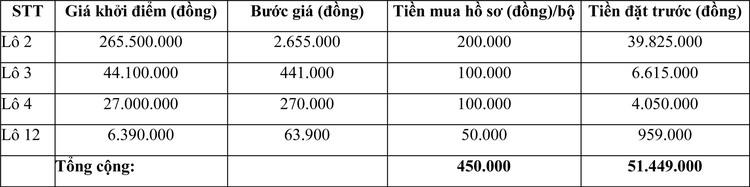 Ngày 11/3/2021, đấu giá máy móc thiết bị tại tỉnh Ninh Thuận ảnh 2