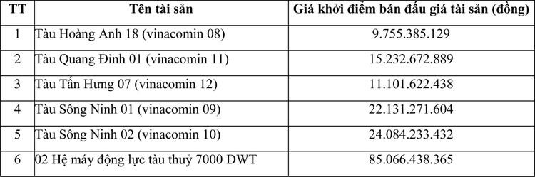 Ngày 8/3/2021, đấu giá vỏ tàu 2.000 – 3.000 DWT và hệ động lực tàu thủy 7.000 DWT tại tỉnh Quảng Ninh ảnh 2