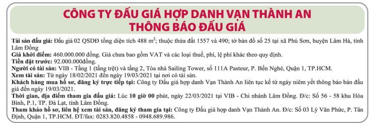 Ngày 22/3/2021, đấu giá quyền sử dụng đất tại huyện Lâm Hà, tỉnh Lâm Đồng ảnh 1