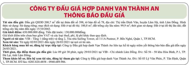 Ngày 29/3/2021, đấu giá quyền sử dụng đất tại huyện Lâm Hà, tỉnh Lâm Đồng ảnh 1