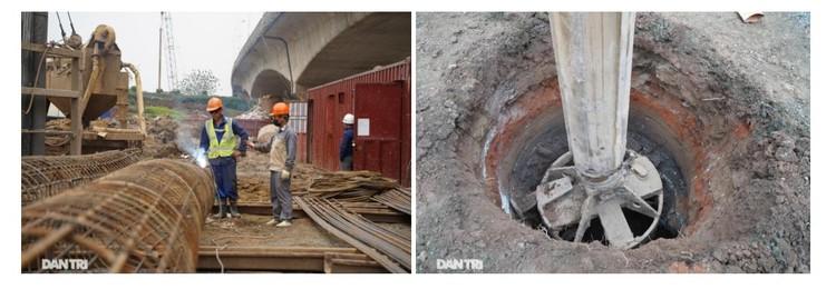 Đại công trường xây dựng cầu Vĩnh Tuy 2 vượt sông Hồng hơn 2.500 tỷ ở Hà Nội ảnh 8