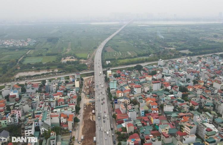 Đại công trường xây dựng cầu Vĩnh Tuy 2 vượt sông Hồng hơn 2.500 tỷ ở Hà Nội ảnh 2