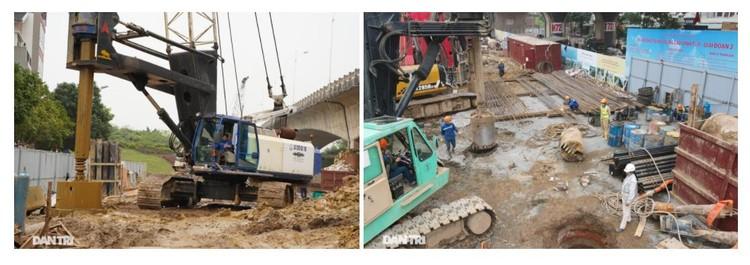 Đại công trường xây dựng cầu Vĩnh Tuy 2 vượt sông Hồng hơn 2.500 tỷ ở Hà Nội ảnh 10
