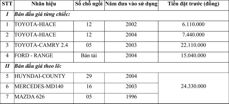 Ngày 24/3/2021, đấu giá lô xe ô tô tại Hà Nội ảnh 2