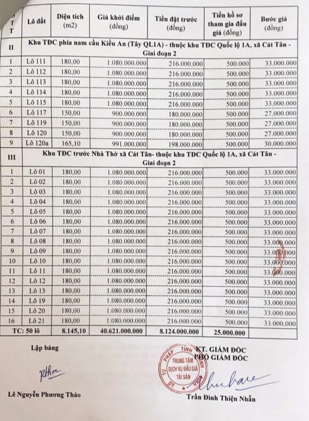 Ngày 2/4/2021, đấu giá quyền sử dụng đất tại huyện Phù Cát, tỉnh Bình Định ảnh 2
