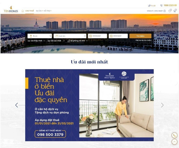 Vinhomes ra mắt sàn giao dịch thuê nhà trực tuyến ảnh 1