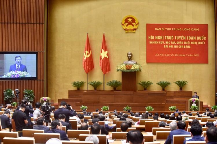 CHÙM ẢNH: Hội nghị quán triệt Nghị quyết Đại hội XIII của Đảng ảnh 6