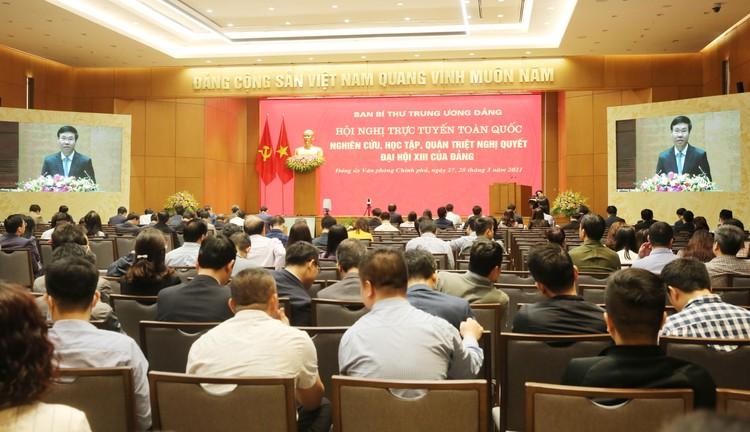 CHÙM ẢNH: Hội nghị quán triệt Nghị quyết Đại hội XIII của Đảng ảnh 7