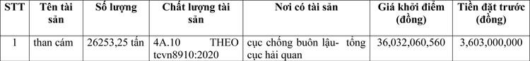 Ngày 7/4/2021, đấu giá than cám tại tỉnh Bà Rịa - Vũng Tàu ảnh 1
