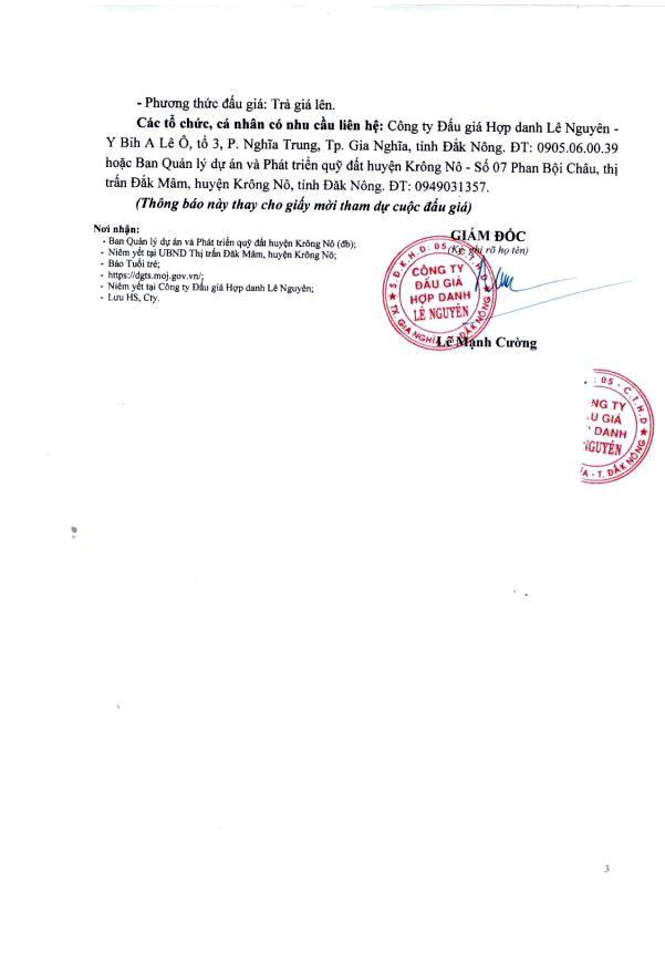 Ngày 20/4/2021, đấu giá quyền sử dụng đất tại huyện Krông Nô, tỉnh Đắk Nông ảnh 3