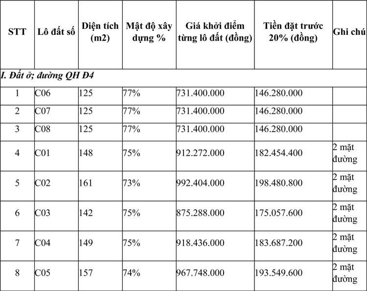 Ngày 8/5/2021, đấu giá quyền sử dụng đất tại thành phố Pleiku, tỉnh Gia Lai ảnh 1