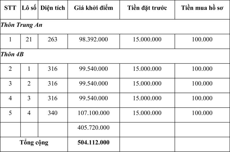 Ngày 29/4/2021, đấu giá quyền sử dụng đất tại huyện Gio Linh, tỉnh Quảng Trị ảnh 1