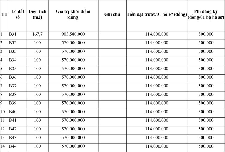 Ngày 27/4/2021, đấu giá quyền sử dụng đất tại huyện Triệu Sơn, tỉnh Thanh Hóa ảnh 1