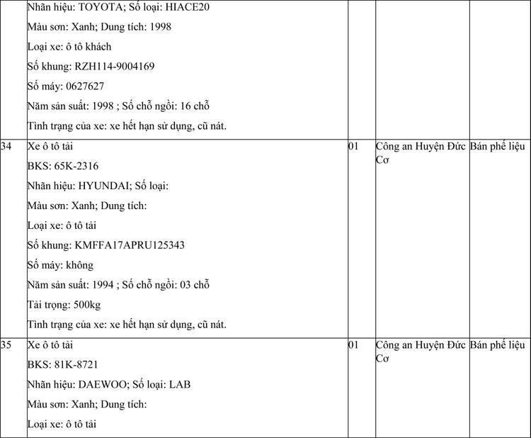 Ngày 29/4/2021, đấu giá phương tiện vi phạm hành chính tại tỉnh Gia Lai ảnh 15