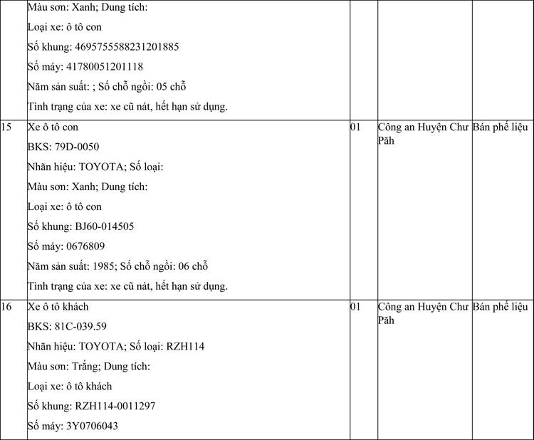 Ngày 29/4/2021, đấu giá phương tiện vi phạm hành chính tại tỉnh Gia Lai ảnh 7