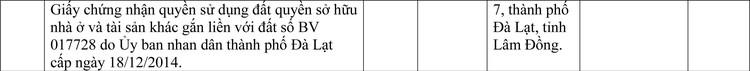 Ngày 7/5/2021, đấu giá quyền sử dụng đất tại thành phố Đà Lạt, tỉnh Lâm Đồng ảnh 3