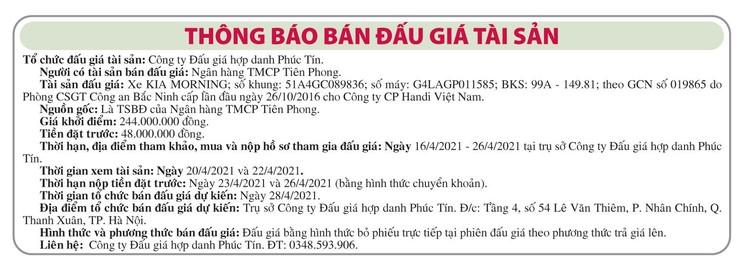 Ngày 28/4/2021, đấu giá xe ô tô Kia tại Hà Nội ảnh 1