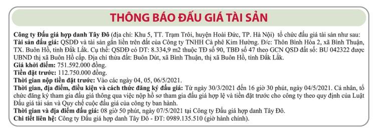 Ngày 7/5/2021, đấu giá quyền sử dụng đất tại thị xã Buôn Hồ, tỉnh Đắk Lắk ảnh 1