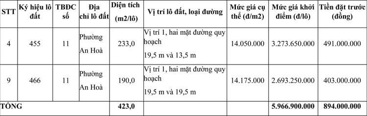 Ngày 7/5/2021, đấu giá quyền sử dụng đất tại thành phố Huế, tỉnh Thừa Thiên Huế ảnh 1