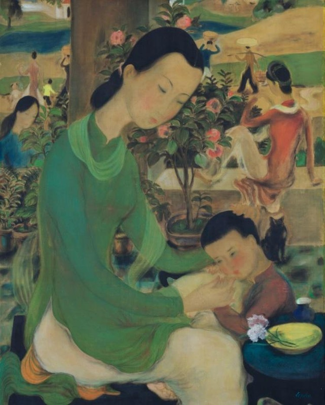 12 siêu phẩm hội họa Việt đắt giá nhất trên thị trường đấu giá quốc tế ảnh 4