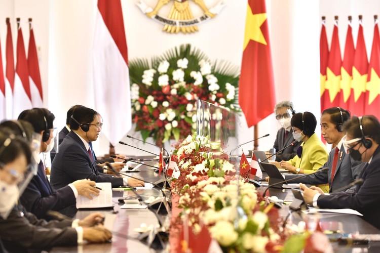 Thủ tướng Phạm Minh Chính hội đàm với Tổng thống Indonesia, định hướng quan hệ Đối tác Chiến lược giữa hai nước ảnh 1