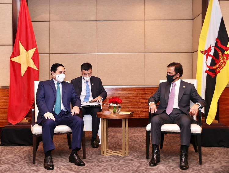 Thủ tướng Chính phủ Phạm Minh Chính hội kiến Quốc vương Brunei ảnh 1