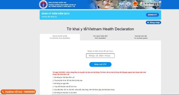 Sau nghỉ lễ 30/4-1/5, người dân khi về Hà Nội bắt buộc phải khai báo y tế ảnh 1