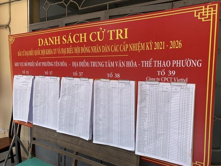 Hà Nội: Hoàn thành niêm yết danh sách cử tri tại các khu vực bầu cử ảnh 3