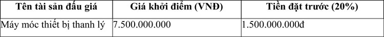 Ngày 18/5/2021, đấu giá máy móc thiết bị thanh lý tại TP.HCM ảnh 1