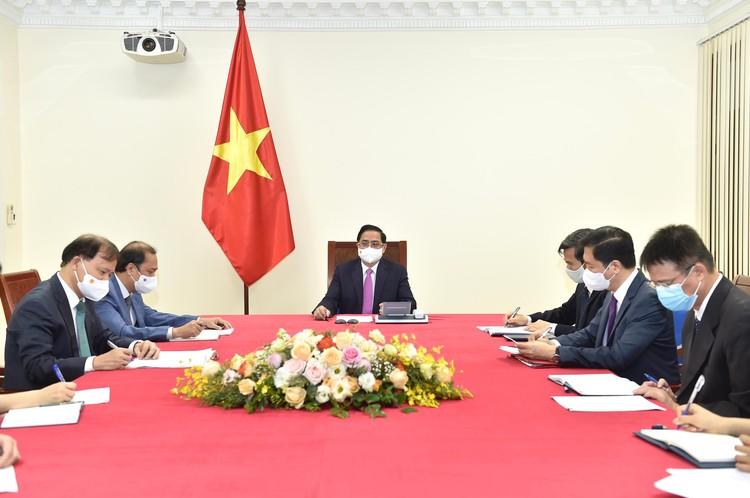 Thủ tướng Chính phủ Phạm Minh Chính điện đàm với Thủ tướng Thái Lan Prayut Chan-o-cha ảnh 1