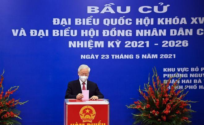 Tổng bí thư, Chủ tịch nước, Thủ tướng Chính phủ, Chủ tịch Quốc hội hoàn thành bỏ phiếu bầu cử ảnh 1