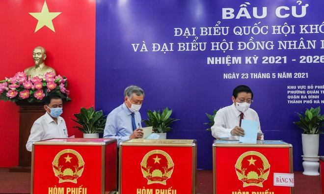 Tổng bí thư, Chủ tịch nước, Thủ tướng Chính phủ, Chủ tịch Quốc hội hoàn thành bỏ phiếu bầu cử ảnh 11