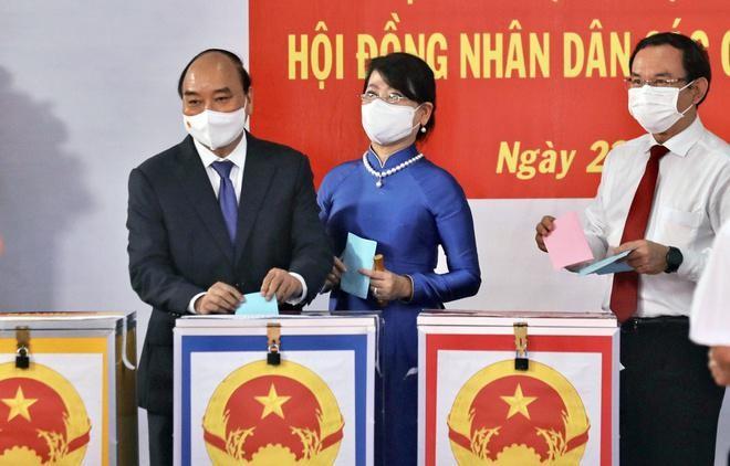 Tổng bí thư, Chủ tịch nước, Thủ tướng Chính phủ, Chủ tịch Quốc hội hoàn thành bỏ phiếu bầu cử ảnh 3
