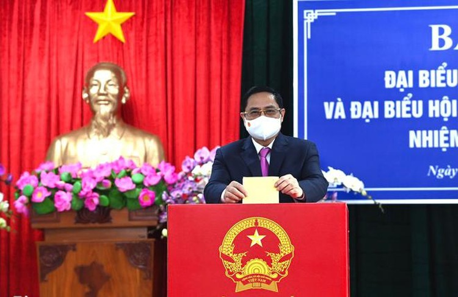 Tổng bí thư, Chủ tịch nước, Thủ tướng Chính phủ, Chủ tịch Quốc hội hoàn thành bỏ phiếu bầu cử ảnh 5
