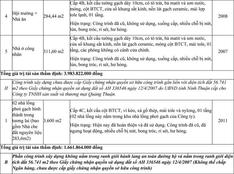 Ngày 4/6/2021, đấu giá quyền sử dụng đất thuê, công trình xây dựng và máy móc thiết bị tại huyện Ninh Sơn, tỉnh Ninh Thuận ảnh 2