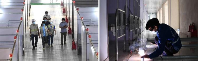 Cận cảnh Bệnh viện dã chiến 628 giường cùng 300 y bác sỹ ở Bắc Giang, sẵn sàng điều trị bệnh nhân Covid-19 ảnh 2