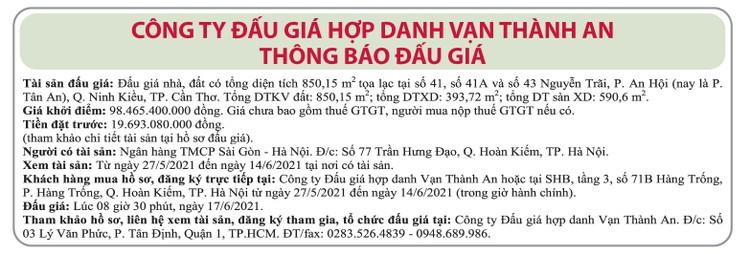 Ngày 17/6/2021, đấu giá quyền sử dụng đất tại quận Ninh Kiều, TP.Cần Thơ ảnh 1
