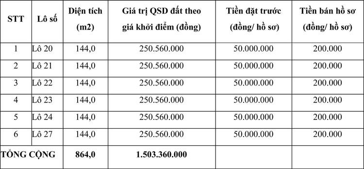 Ngày 10/6/2021, đấu giá quyền sử dụng đất tại huyện Triệu Sơn, tỉnh Thanh Hóa ảnh 1