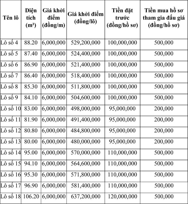 Ngày 21/6/2021, đấu giá quyền sử dụng đất tại thành phố Sầm Sơn, tỉnh Thanh Hóa ảnh 1