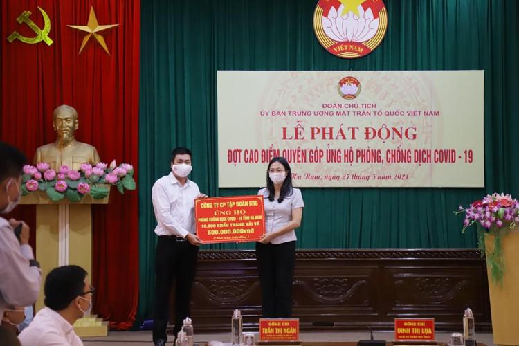 Tập đoàn BRG ủng hộ 1 tỷ đồng và 20.000 khẩu trang cho các tỉnh Hà Nam và tỉnh Bắc Giang ảnh 1