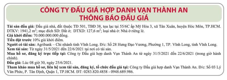 Ngày 25/6/2021, đấu giá quyền sử dụng đất tại huyện Hóc Môn, TP.HCM ảnh 1