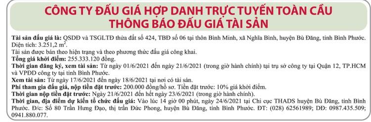Ngày 24/6/2021, đấu giá quyền sử dụng đất tại huyện Bù Đăng, tỉnh Bình Phước ảnh 1
