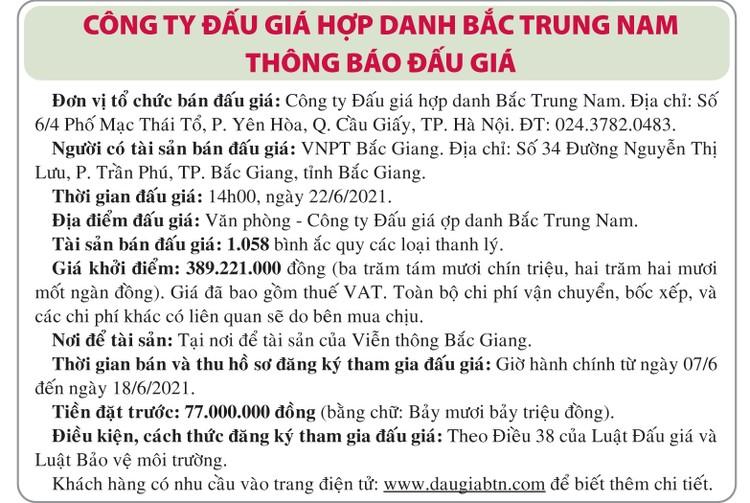 Ngày 22/6/2021, đấu giá bình ắc quy thanh lý tại Hà Nội ảnh 1
