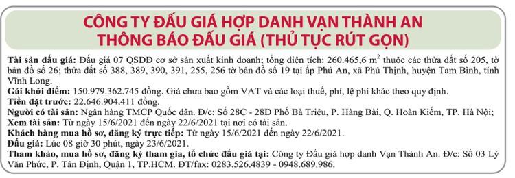 Ngày 23/6/2021, đấu giá quyền sử dụng đất tại huyện Tam Bình, tỉnh Vĩnh Long ảnh 1