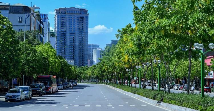 Đường phố Hà Nội thông thoáng, chỉ số về không khí tốt ảnh 12