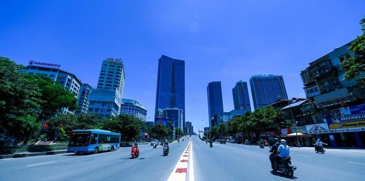 Đường phố Hà Nội thông thoáng, chỉ số về không khí tốt ảnh 18